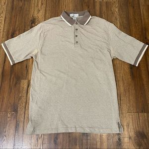 Vintage short sleeve polo shirts brown